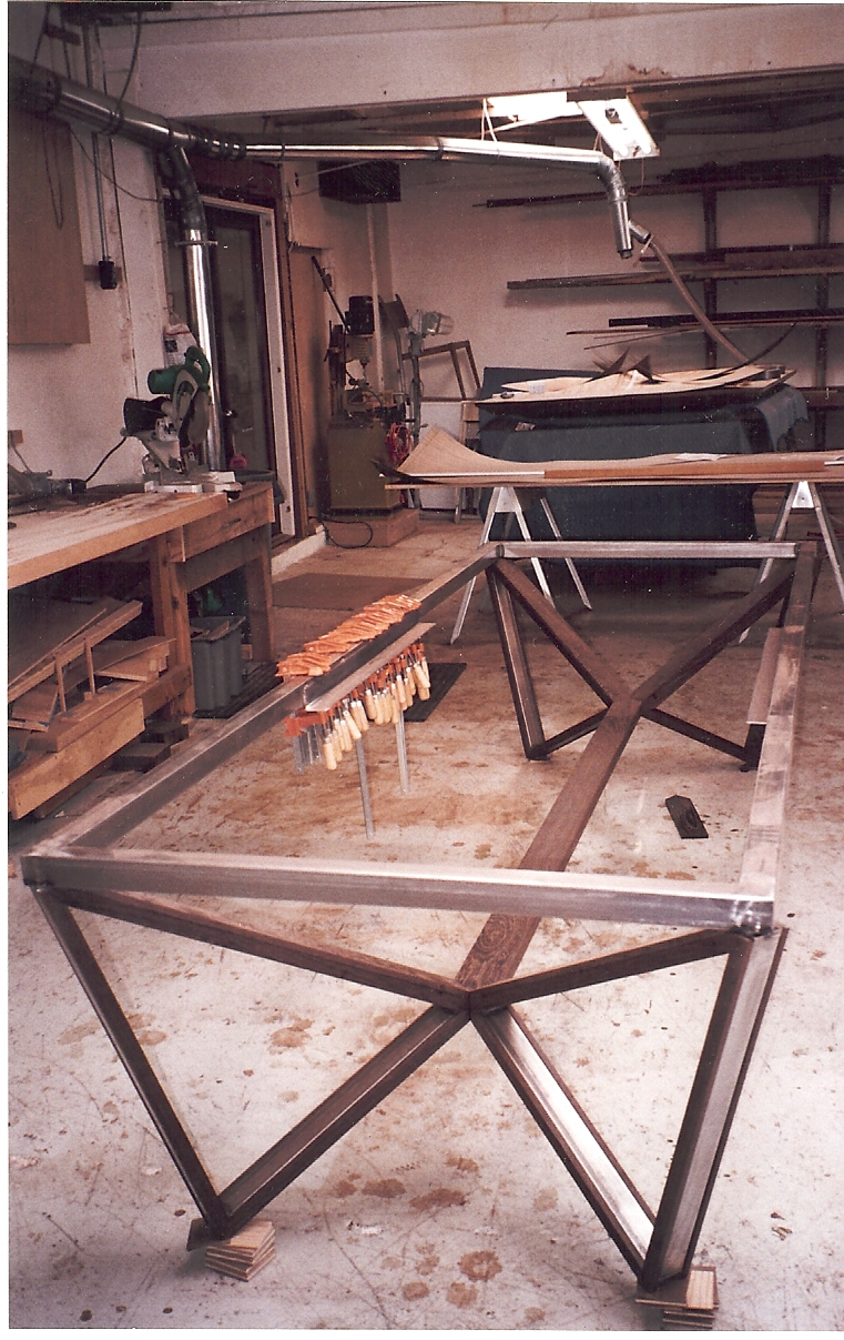 Weld welding welder table on pinterest welding table Wood and steel furniture
